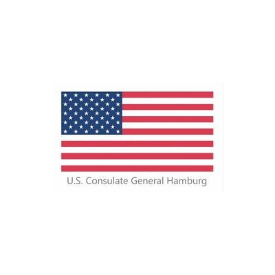Needs translation: Logo US Generalkonsulat Hamburg