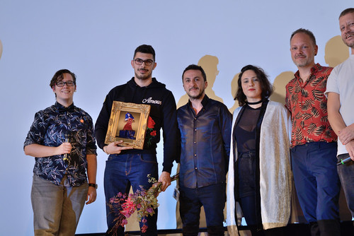 Foto awards ceremony: Anthony Chidiac receiving his prize from the jury