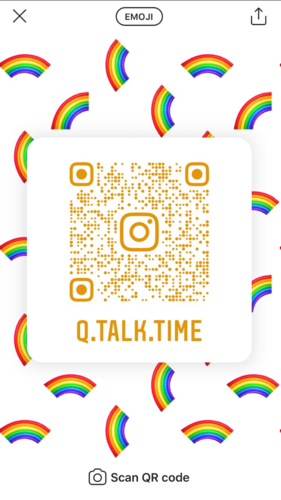 Needs translation: QR-Code Q.Talk.Time Instagram
